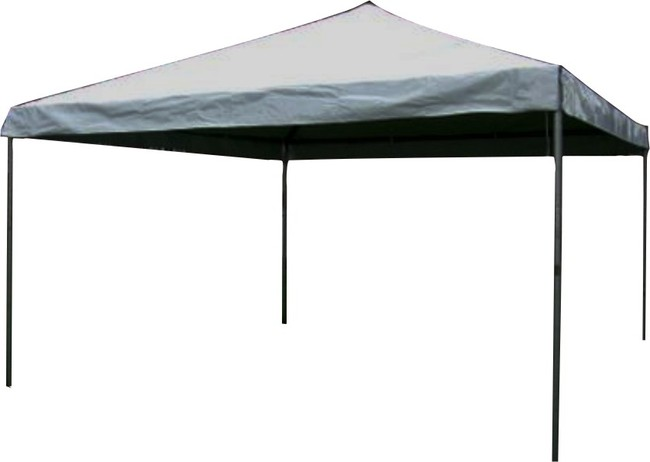 this 15x15 west coast style frame tent has a rigid framework which allows the tent to be set up without the use of a center pole